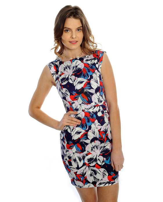 Rent dress | French Connection floral print dress | Hirestreetuk.com