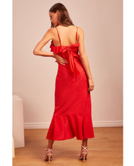 Hire Finders Keepers Red Ruffle Midi Dress
