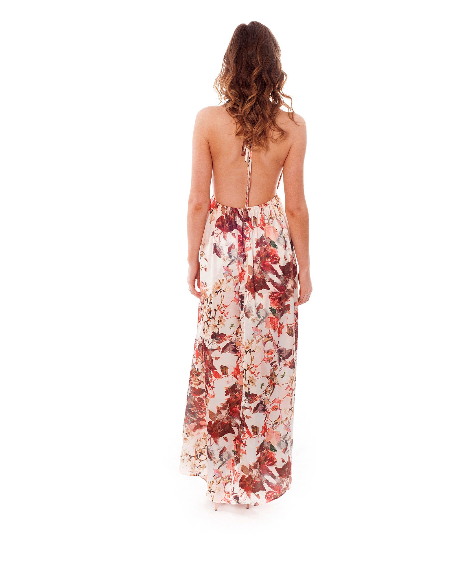 Rent a dress | Floral maxi dress with cross back| Hirestreetuk.com