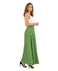 DANCING LEOPARD MALIBU DRESS IN GREEN DOTTY MIX