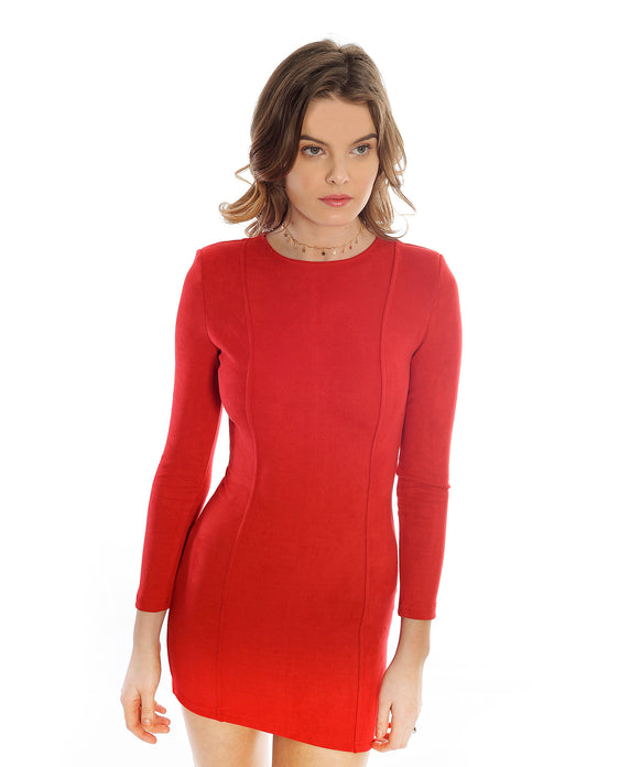 Rent a dress | In the style red suede dress | Hirestreetuk.com