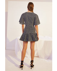 HIRE KEEPSAKE THE LABEL MONOCHROME MINI DRESS 1