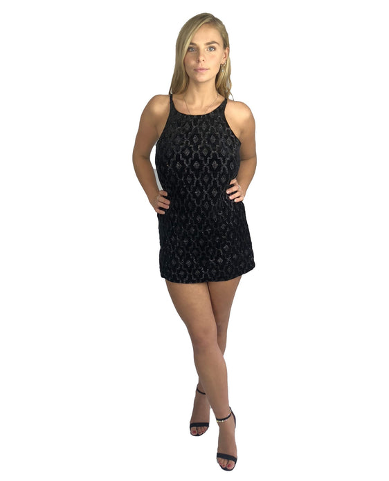 MOTEL BLACK SHIFT MINI DRESS