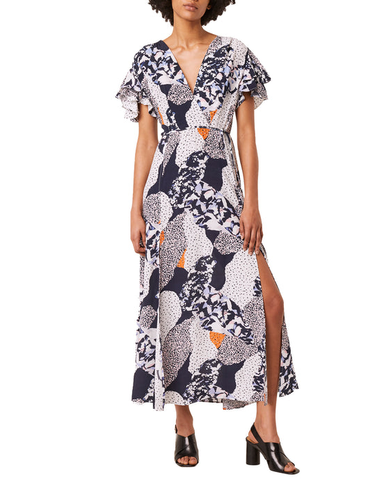 FRENCH CONNECTION ASHA DRAPE WRAP MAXI DRESS