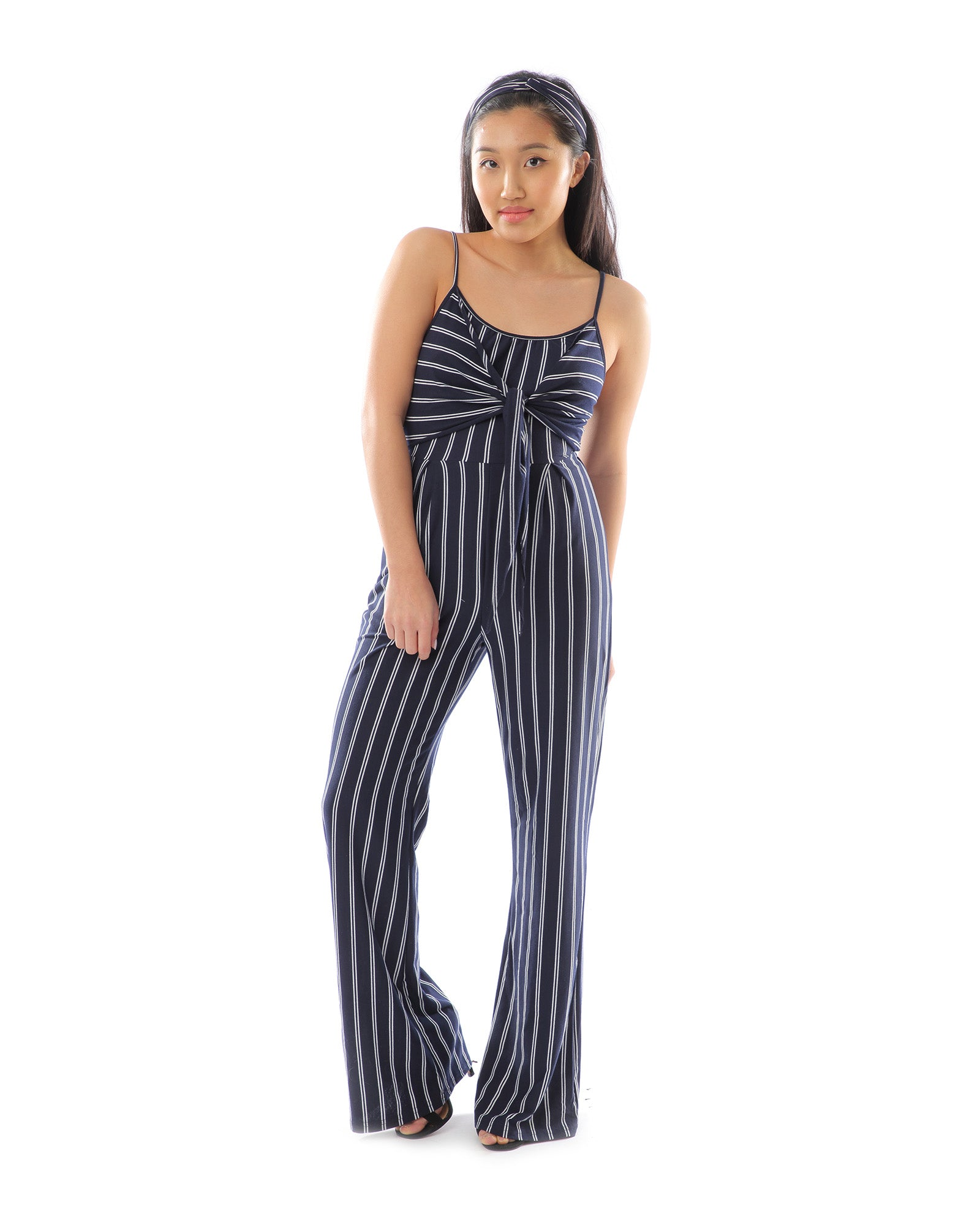 uk cheap sale order online 50% price Rent Navy & White Striped Jumpsuit | Hirestreetuk.com