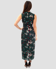 HIRE NEVER FULLY DRESSED GREEN LEOPARD PRINT WRAP MIDI DRESS