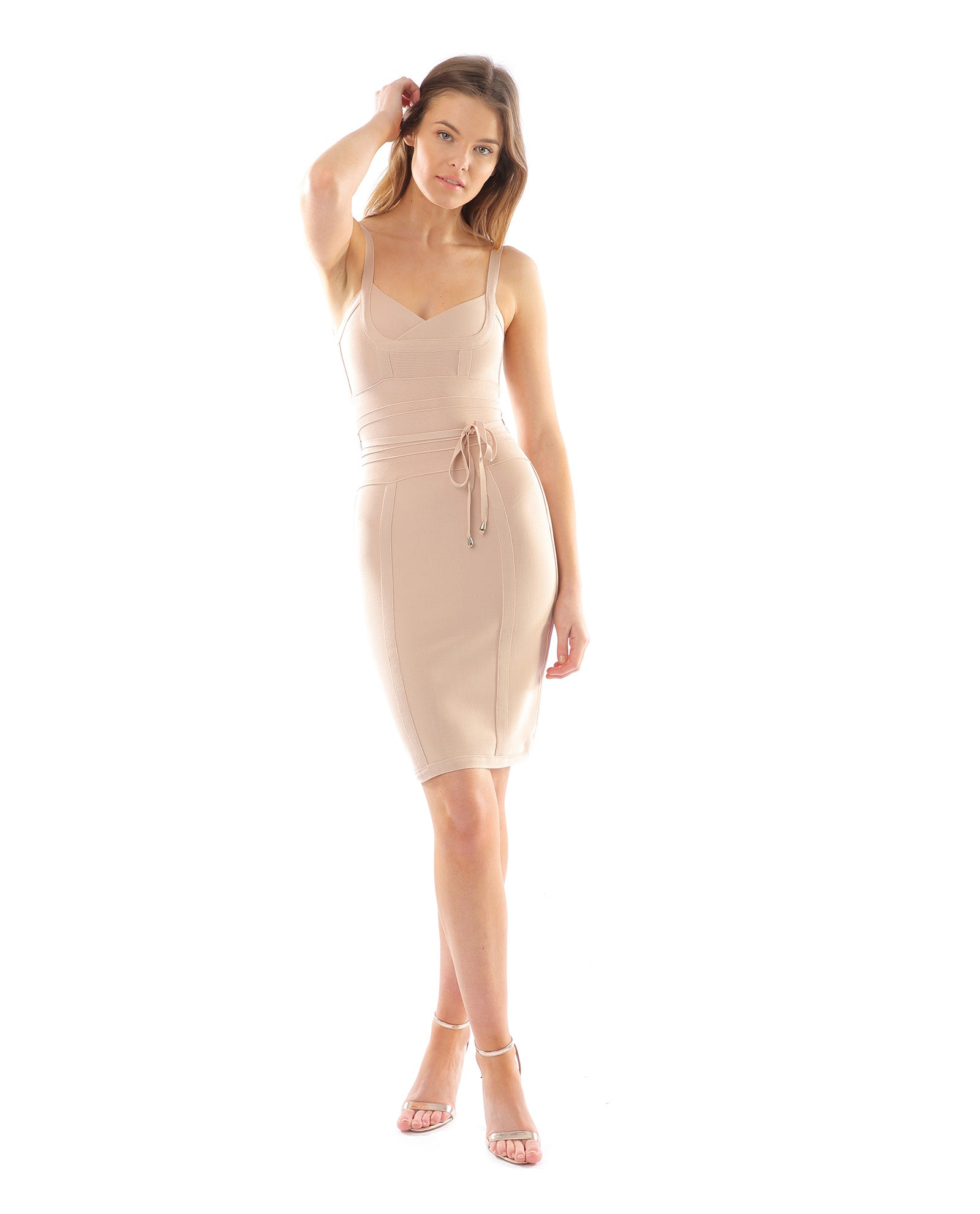Rent dress | Nude bodycon dress | Hirestreetuk.com