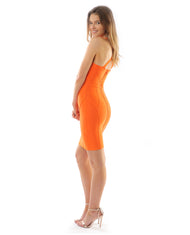 Rent dress | Orange bodycon dress | Hirestreetuk.com