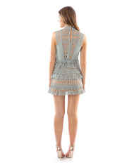 Rent dress | Pale blue tassel tiered dress | Hirestreetuk.com
