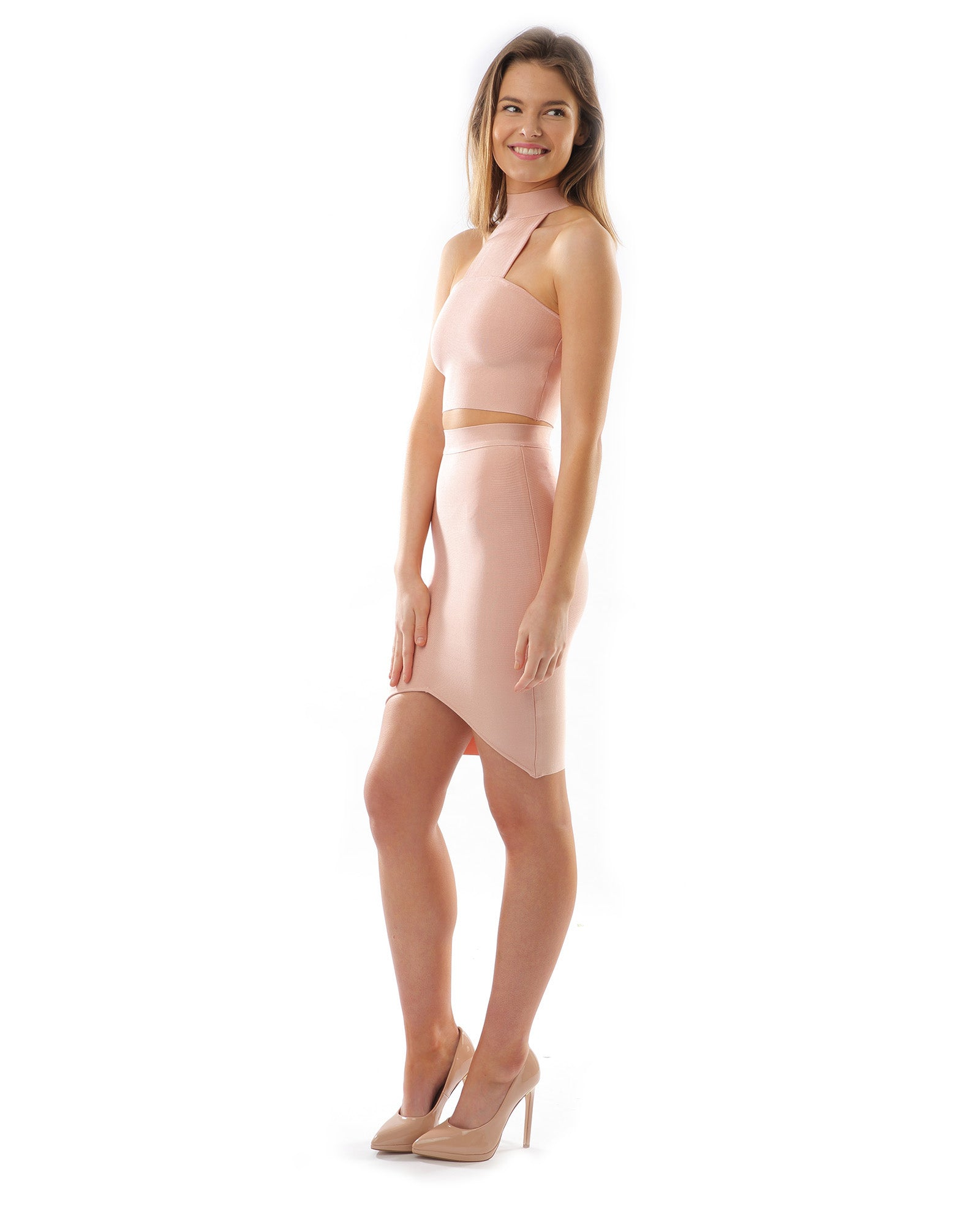 Hire Pink Bodycon Two Piece For Parties & Nights Out | Hirestreetuk.com
