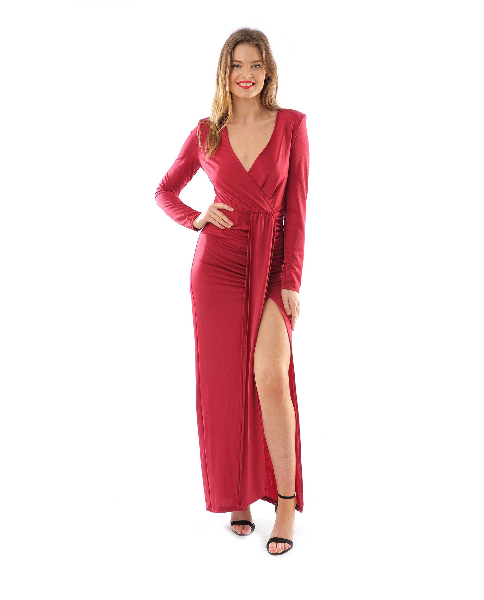 3090b7ff8bd71 Rent Missguided Peace and Love Maroon Maxi | Hirestreetuk.com