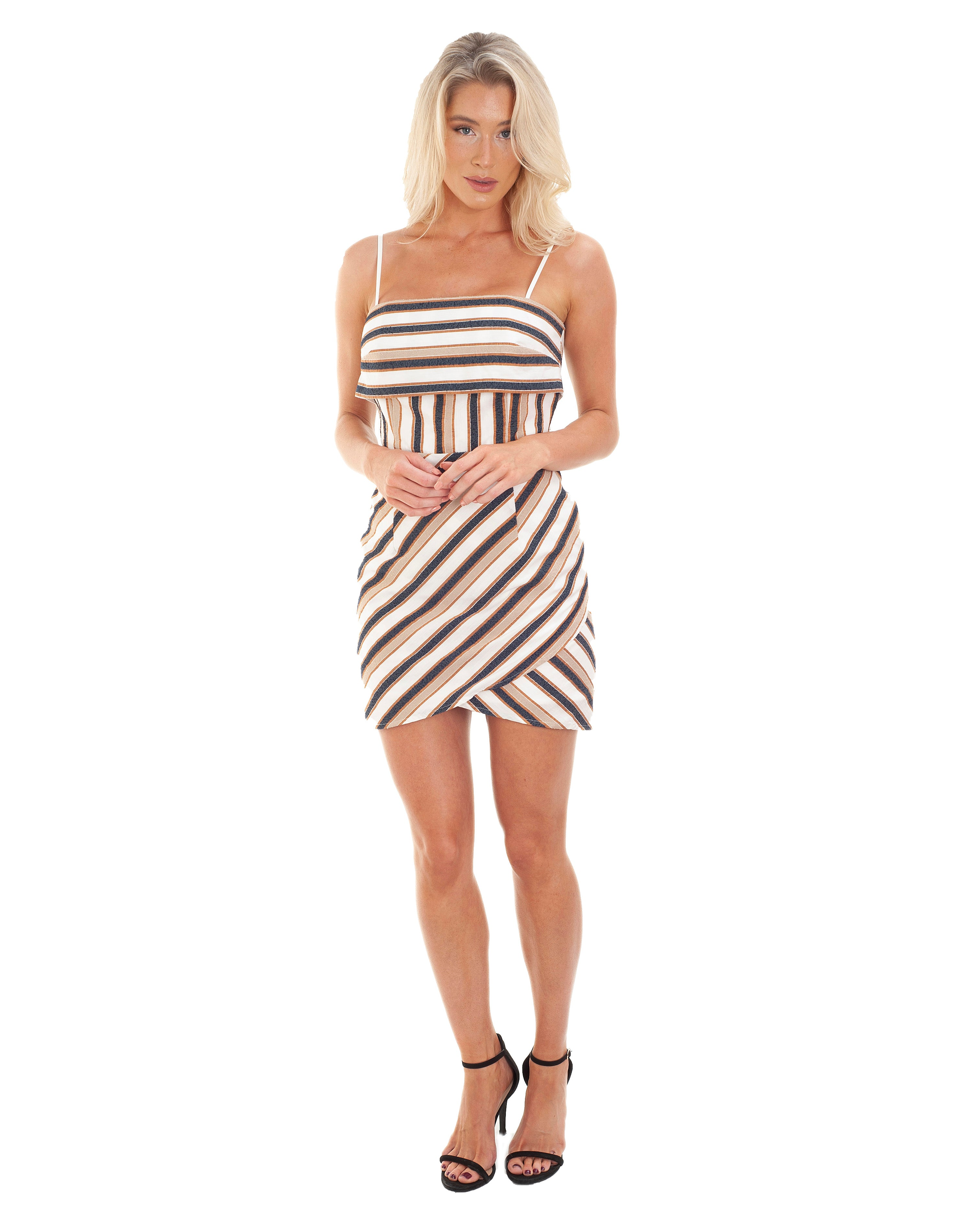 PREM THE LABEL STRIPED MINI DRESS