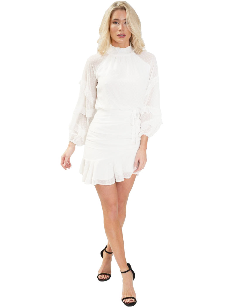 TWOSISTERS THE LABEL PIPER DRESS IN WHITE