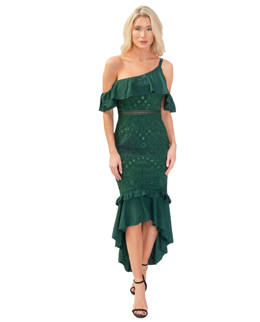 TWOSISTERS THE LABEL VICTORIA GREEN DRESS