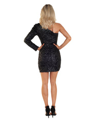 BARDOT ABIGAIL SEQUIN BLACK DRESS
