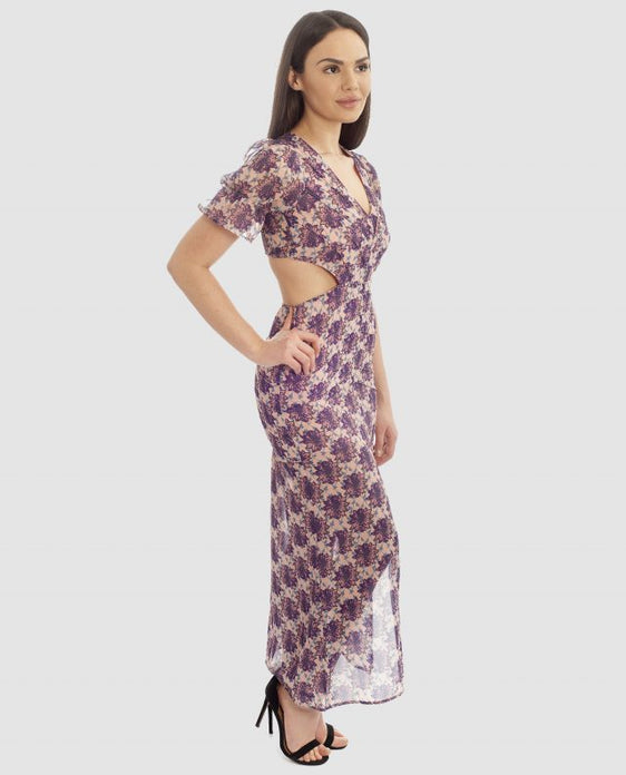 d00b1131e2f9 PURPLE FLORAL BOHO MAXI WITH CUT OUT BACK