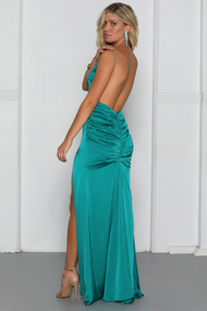 RUNAWAY THE LABEL TEAL ADELINE MAXI
