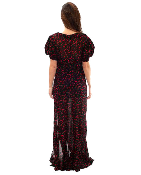 RAT AND BOA MAGNOLIA FLORAL DRESS
