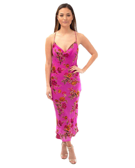 RAT AND BOA PINK KIKI FLORAL DRESS