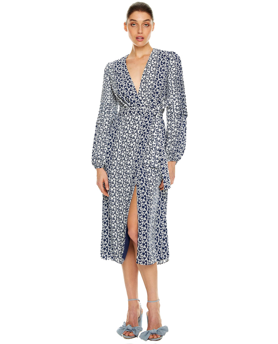 TALULAH REMEMBER ME L/S MIDI DRESS