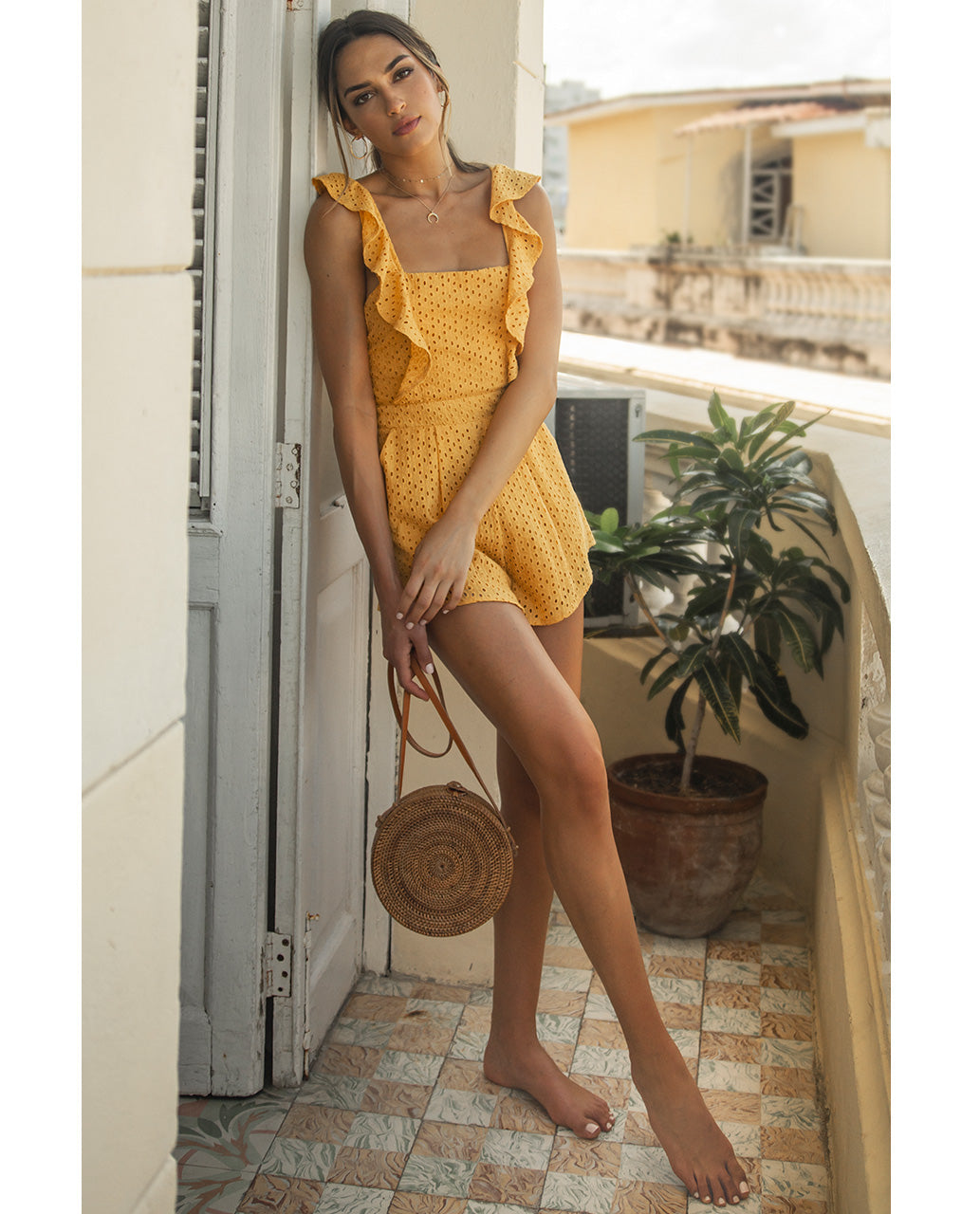 Ongebruikt Rent Runaway Mango Playsuit With Frill Detail | Hirestreetuk.com LV-96