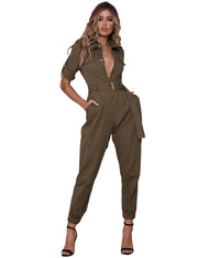 RUNAWAY THE LABEL KHAKI BOILER SUIT