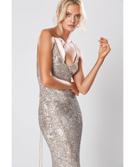 WINONA BROADWAY MAXI DRESS SILVER