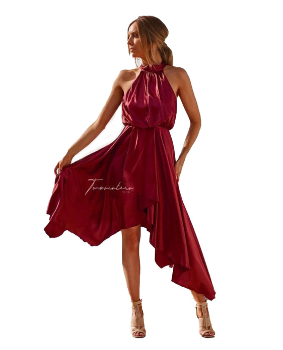 TWOSISTERS THE LABEL KATHLEEN DRESS IN RED