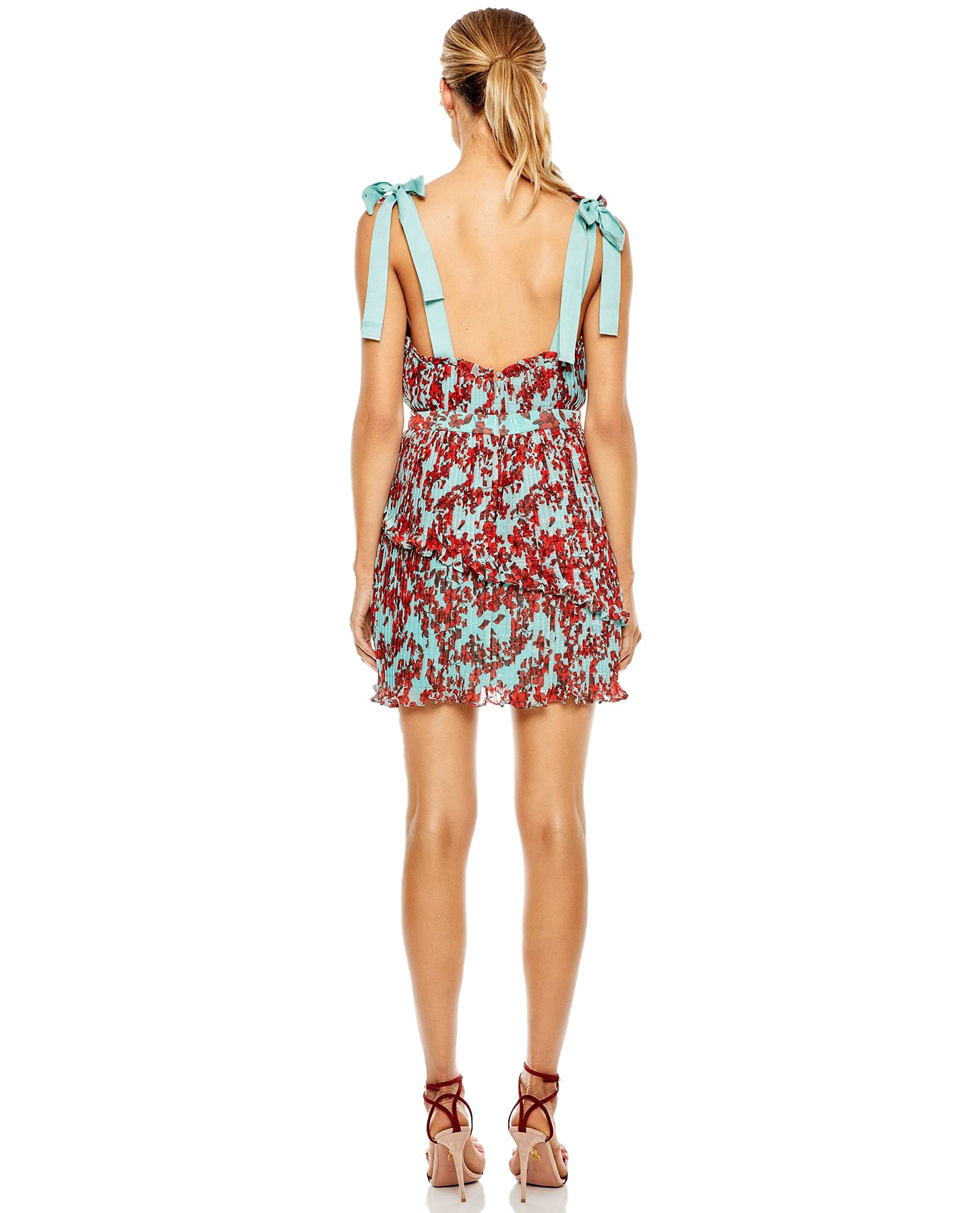TALULAH SUPERBLOOM MINI DRESS WITH TIE STRAPS