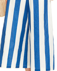 TALULAH BLUE AND WHITE STRIPED JUMPSUIT