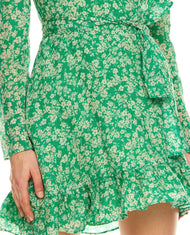 TALULAH GREEN WITH ENVY MINI DRESS