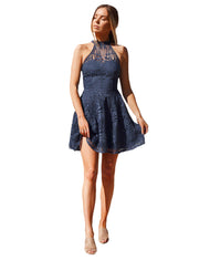TWOSISTERS THE LABEL TARA DRESS IN NAVY