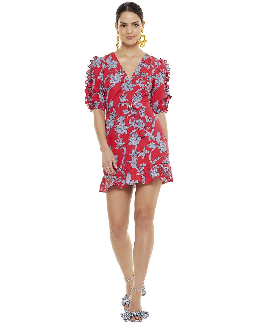 TALULAH WILD IRIS MINI DRESS