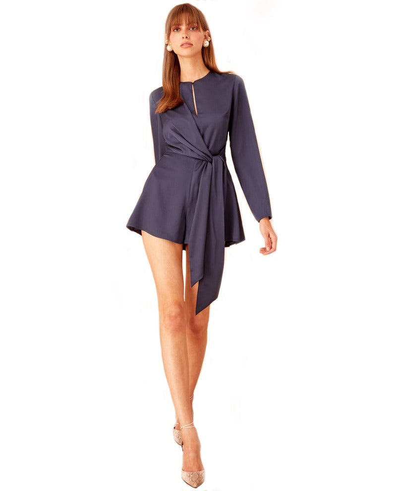KEEPSAKE MIDNIGHT RAINDROPS PLAYSUIT