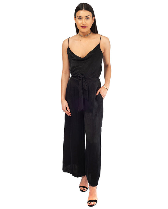 HIRE ZARA BLACK JUMPSUIT WITH COWL NECK _AAA8139