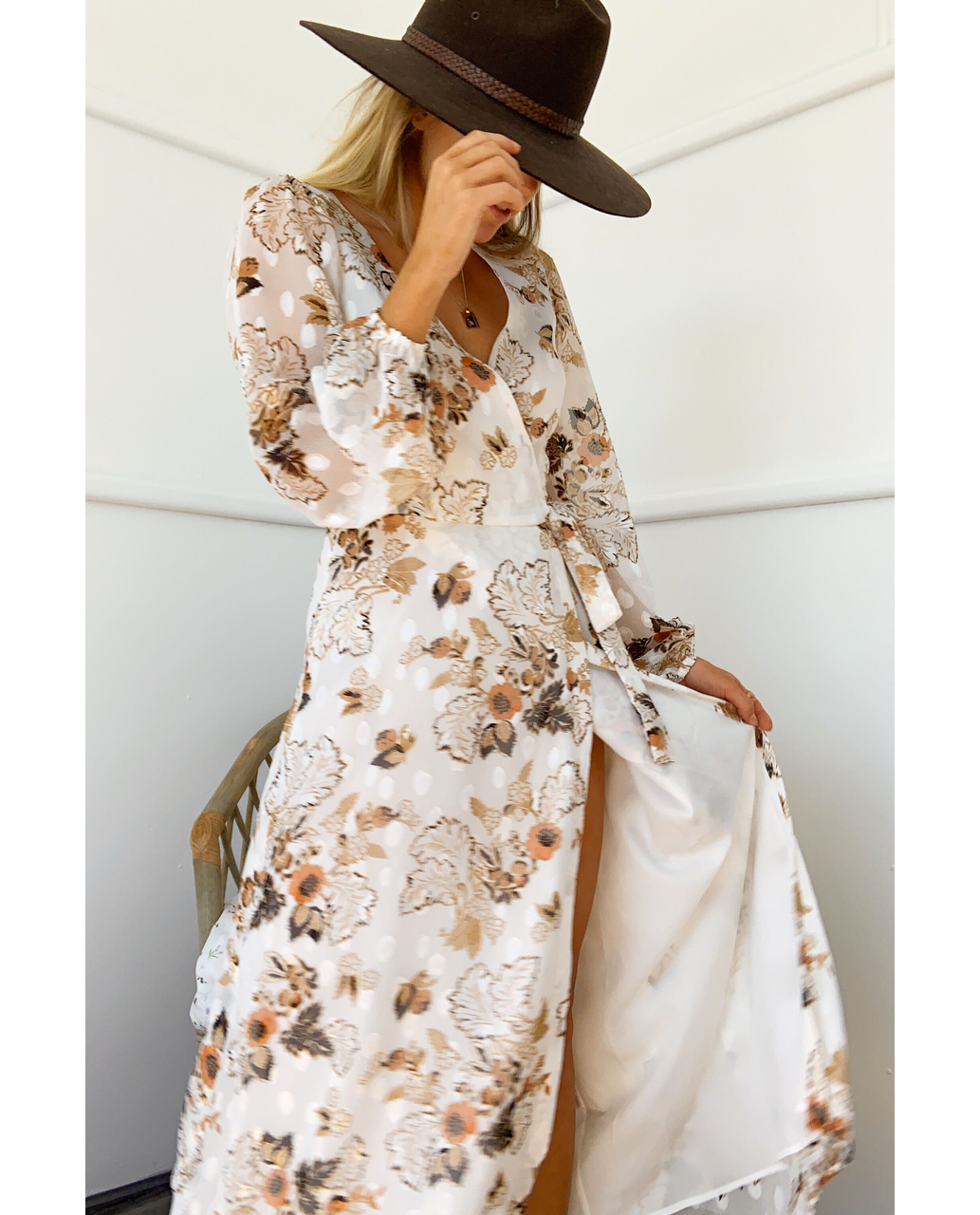 RUNAWAY THE LABEL HALENNE DRESS IN WHITE FLORAL