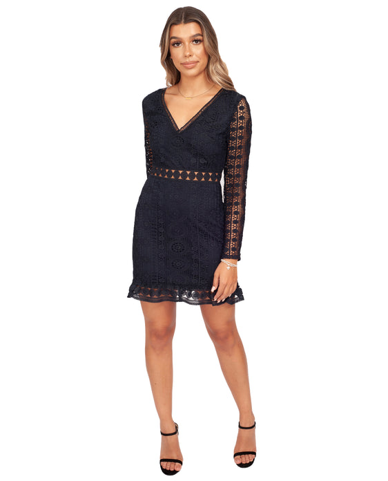 TWOSISTERS THE LABEL EMERY DRESS IN NAVY