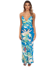 RAT AND BOA BLUE TROPICAL FLORAL MAXI