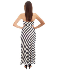 COAST BLUE AND WHITE STRIPED MAXI