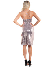 BARDOT PINK SEQUIN DRESS