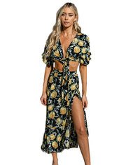 SEVEN WONDERS LIMONCELLO WRAP CO-ORD