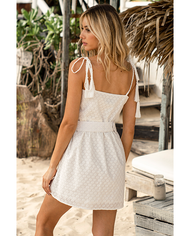 SEVEN WONDERS WHITE MINI DRESS WITH DETACHABLE BELT
