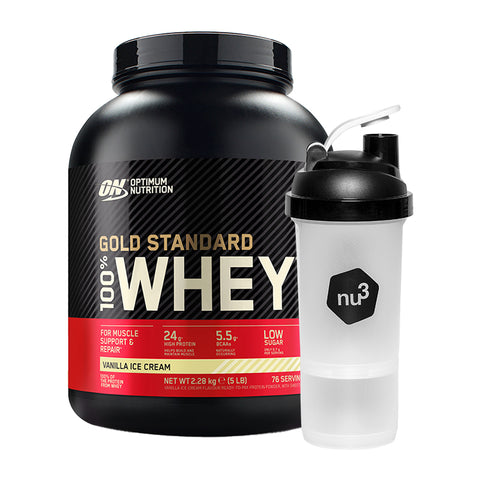 Optimum Nutrition 100 % Whey Gold Standard + nu3 Smartshake