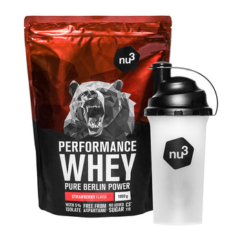 nu3 Performance Whey Protein + Shaker