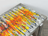 1960's Vintage Fat Lava German Tiled Ceramic Chrome Coffee Table