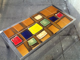 1970s Chrome and Tiled Coffee Table