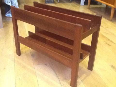 1960's Dark Teak Magazine Rack