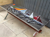 1960'S TILED TOP AND CHROME FRAME COFFEE TABLE