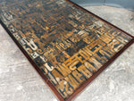 Large Vintage Print Block Coffee Table
