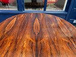 1960's Danish Dyrlund Rosewood Flip-Flap Extendable Lotus Table